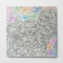 Abstract Paradox Pattern Art Metal Print