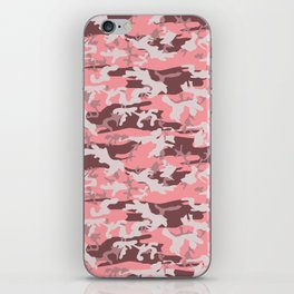 Military Camouflage Pattern - Pink Brown Gray iPhone Skin