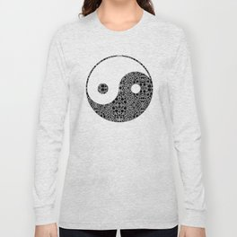 Perfect Balance 1 - Yin and Yang Stone Rock'd Art by Sharon Cummings Long Sleeve T-shirt