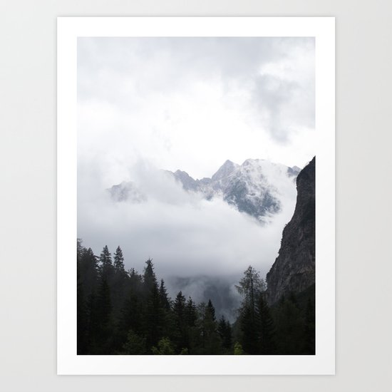 Jagged peaks - Slovenia | landscape - photography - print - travel - mountains - fog Art Print