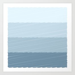 Blue Bars Art Print