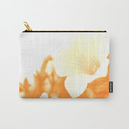 Retro petunia flowers in orange Carry-All Pouch