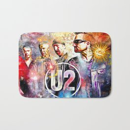 U 2 Painted Bath Mat