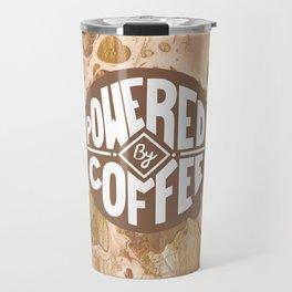 powered by coffee cream Travel Mug