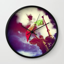 The angel and the flag Wall Clock
