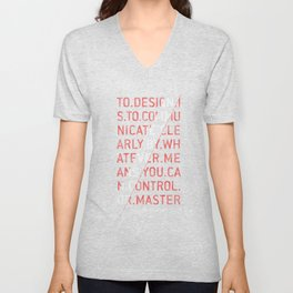 To Design by Milton Glaser Unisex V-Neck