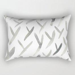Watercolor Y's - Grey Gray Rectangular Pillow