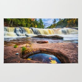Mandio Falls - Porcupine Mountains Rug