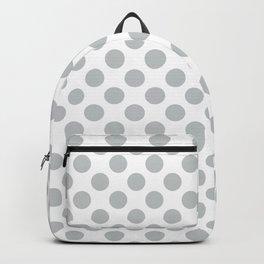 Light Grey Polka Dots Pattern Backpack