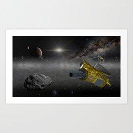 New Horizons space probe in the Kuiper belt Art Print