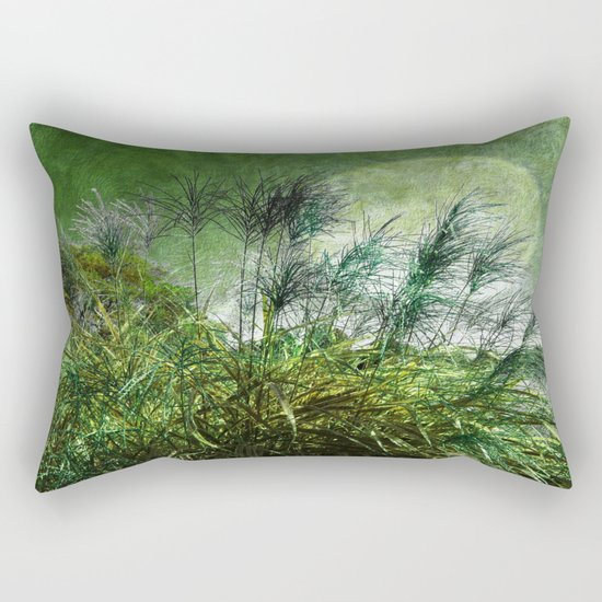 Waters Edge Vintage Green Rectangular Pillow