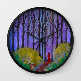 Night Stroll Wall Clock