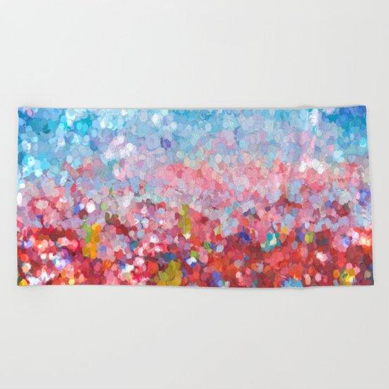 Abstract Garden Beach Towel