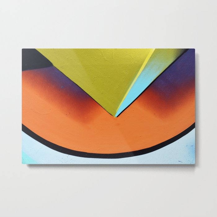 shapes orange yellow Metal Print