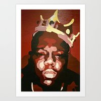 notorious big Art Prints featuring Notorious Big by The Art Of Gem Starr