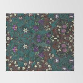 Blackthorn - William Morris Throw Blanket