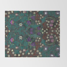 Blackthorn - William Morris Throw Blanket