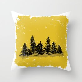Golden Trees in the Pacific Northwest- PNW Throw Pillow