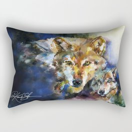 Wolves - by Kathy Morton Stanion Rectangular Pillow