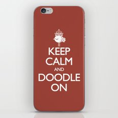 Keep Calm & Doodle On (Red) iPhone & iPod Skin