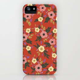 Lucille Floral Print iPhone Case
