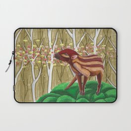 Young wild boar lost in the forest Laptop Sleeve
