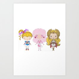 Lil' CutiEs - Eighties Ladies Art Print