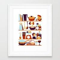 kitchen Framed Art Prints featuring Kitchen by Kata