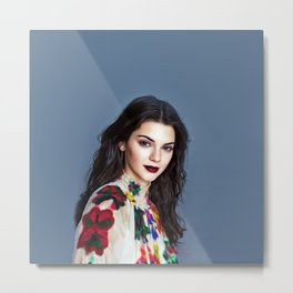 Kendall Jenner - Celebrity Art Metal Print