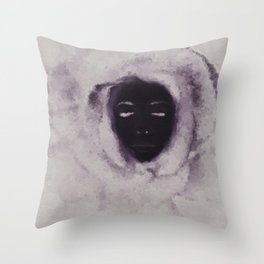 Purple Flower Lady Throw Pillow