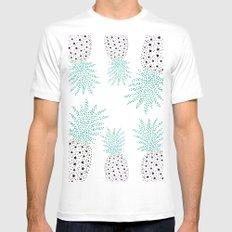 Pineapple Pattern MEDIUM White Mens Fitted Tee
