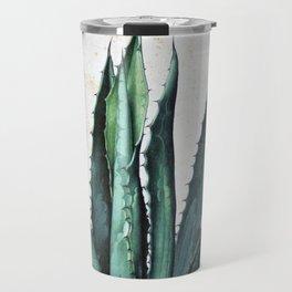 Vintage succulent agave aloe cactus antique desert botanical print boho tribal chic Travel Mug