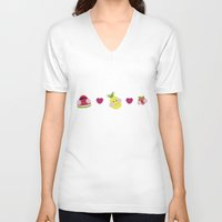 fruits V-neck T-shirts featuring Fruits by Jackiemtmtz