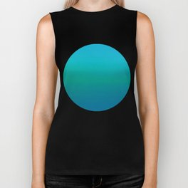 Ombre, Blue to Teal Biker Tank