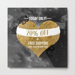 20% OFF SALE Metal Print