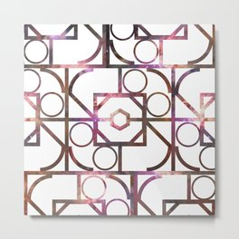 Geometric Galaxy   Metal Print