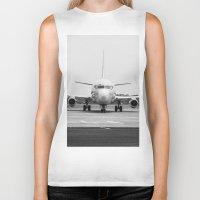 airplane Biker Tanks featuring Airplane  by Gustavo Aragundi