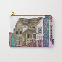 glitch house illustration Carry-All Pouch