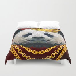 The King of Pandas Duvet Cover