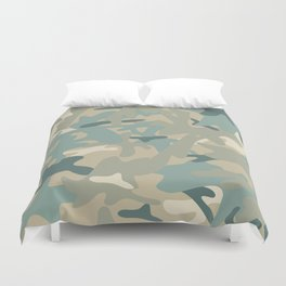 Camouflage military background Duvet Cover