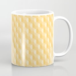 3D Optical Illusion Pattern: Yellow Dodecahedron Coffee Mug