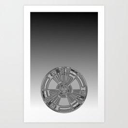 Tech Propeller  Art Print