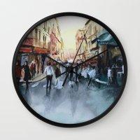 paris Wall Clocks featuring PARIS by Nicolas Jolly