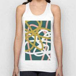Abstract Lines 02B Unisex Tank Top