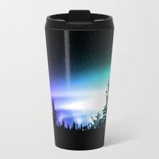 Aurora Borealis Forest Metal Travel Mug