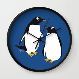 Gentoo penguin Wall Clock