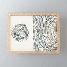 Polar Bear Lines Framed Mini Art Print