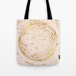 power of one: pink gold Tote Bag