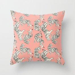 Pink Tiger Pattern 006 Throw Pillow