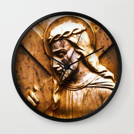 Jesus Carried The Cross For You Wall Clock